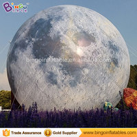 Square display type 39 feet giant inflatable moon decorative big inflatable moon balloon with LED lighting toys