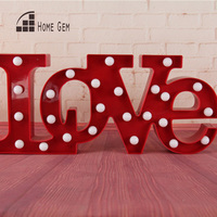 21wide LOVE White plastic LED Marquee Sign LIGHT UP Vintage Adhesive love letter light valentine's Day Indoor Deration
