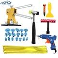 Novo Estilo Do Carro Granizo PDR Paintless Reparação Dent Levantador + Pistola de Cola Tap Para Baixo Remoção Extrator