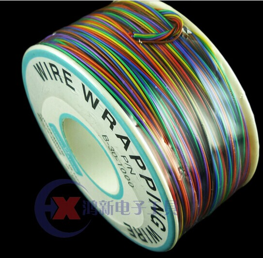 New arrival 8 color Wrapping Wire Wrap Multicolor AWG30 Cable ok wire free shipping 6m 20ft long 12mm wire spiral wrap wrapping sleeving band cable black white x 2