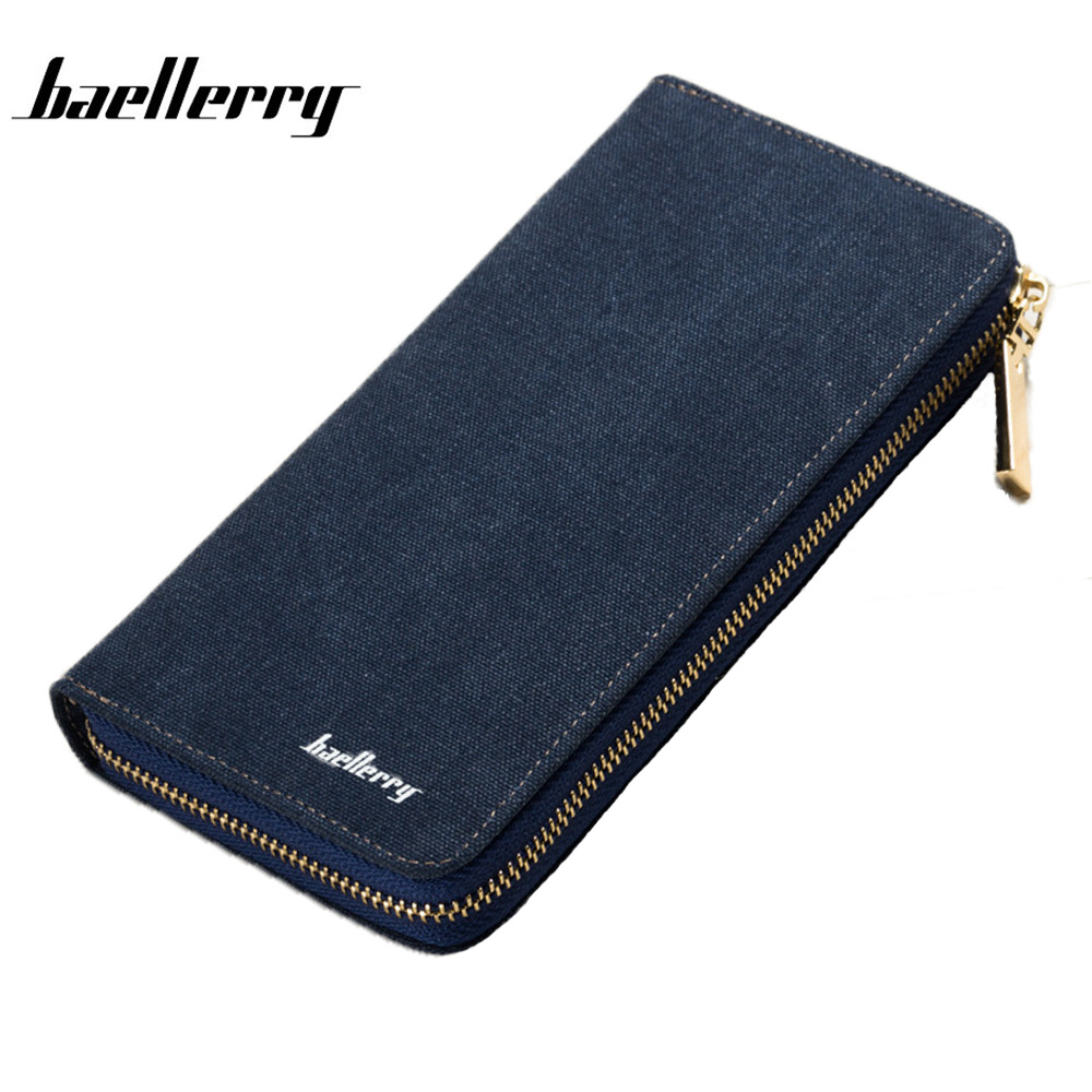 BAELLERRY Men Wallets Men Purse Clutch Bag Canvas Long Wallet Phone Holder Card Holders Carteira Masculina Best Gift HQB1814 2016 new men wallets casual wallet men purse clutch bag brand leather wallet long design men card bag gift for men phone wallet
