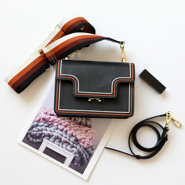Genuine Leather Small Flap...