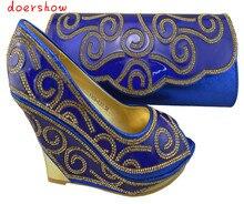 Doershow Бесплатная доставка модные женские Итальянская обувь S и Сумочки в комплекте комплект итальянская обувь и сумка в комплекте (Szie: 38 или 42)! ZX1-69