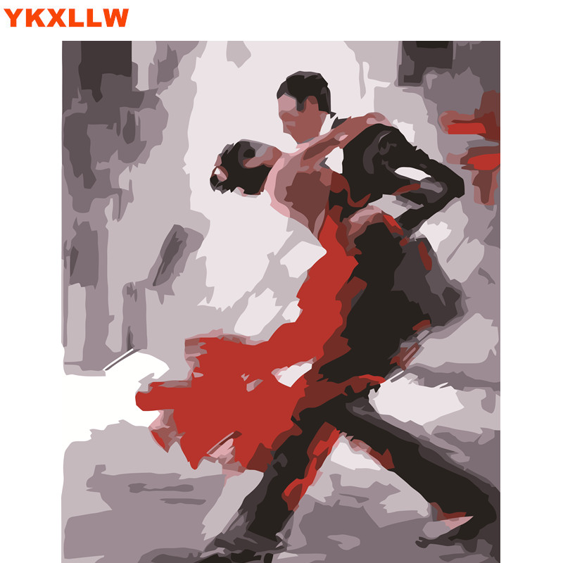 hq dance dancing tango home decor no frame painting pictures coloring by numbers handwork wall module