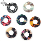 23mm Acetic Acid Resin Charms Pendants Flat Smooth Round Circle Charms Pendants For DIY Jewelry Making Finding Accessories