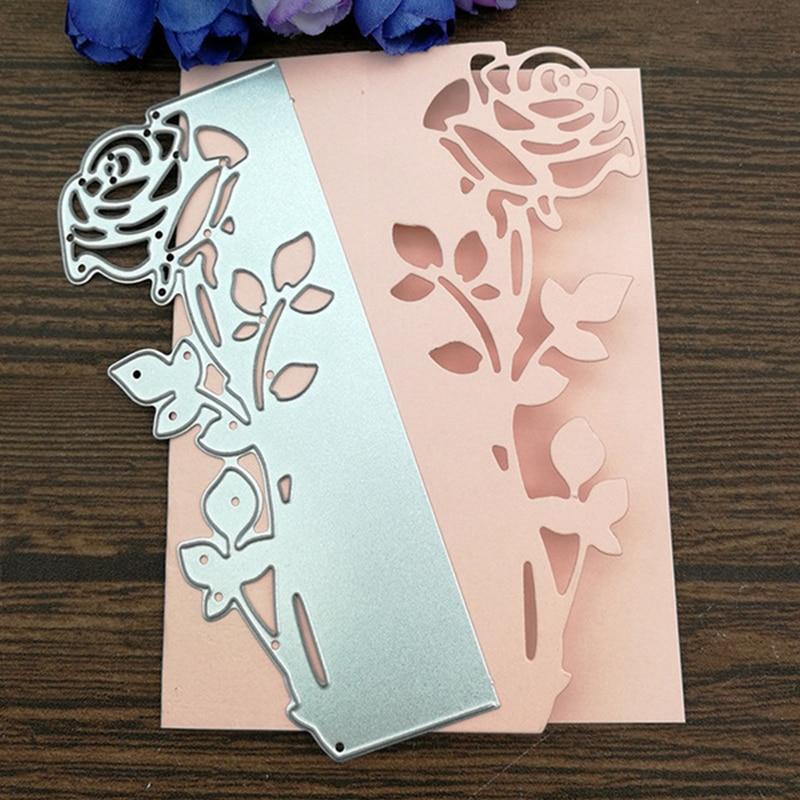 1pc Rose Leaves Border Metal Cutting Dies Stencils Die Cut For DIY Scrapbooking Album Paper Card Embossing Dropshipping