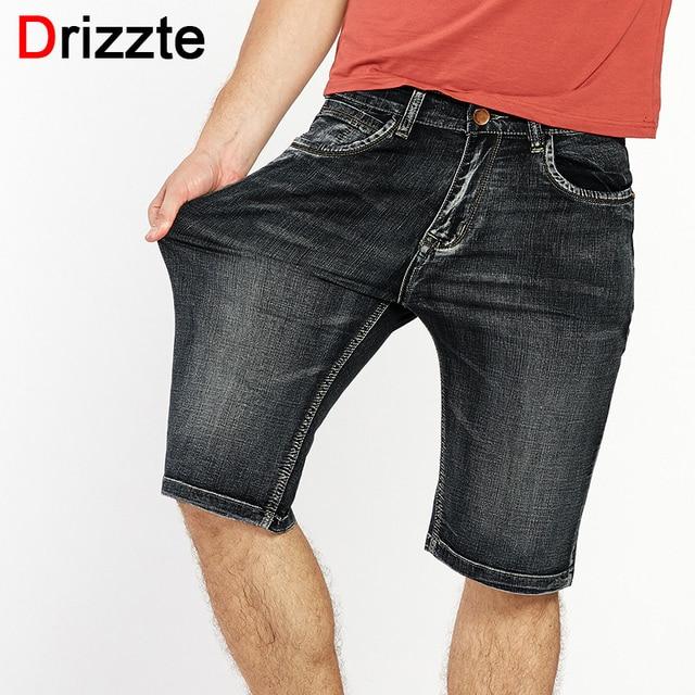 8a19f5a19c1 Drizzte Brand Mens Lightweight Denim Jeans Shorts Plus Size Jeans Short for Men  Pants Summer 34 35 36 38 40 42