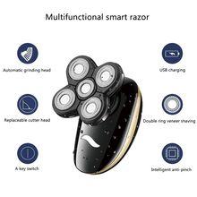 Wielofunkcyjny Grooming elektryczny zestaw z golarką na mokro i na sucho elektryczna golarka dla mężczyzn i kobiet akumulator USB broda do włosów w nosie Shavin