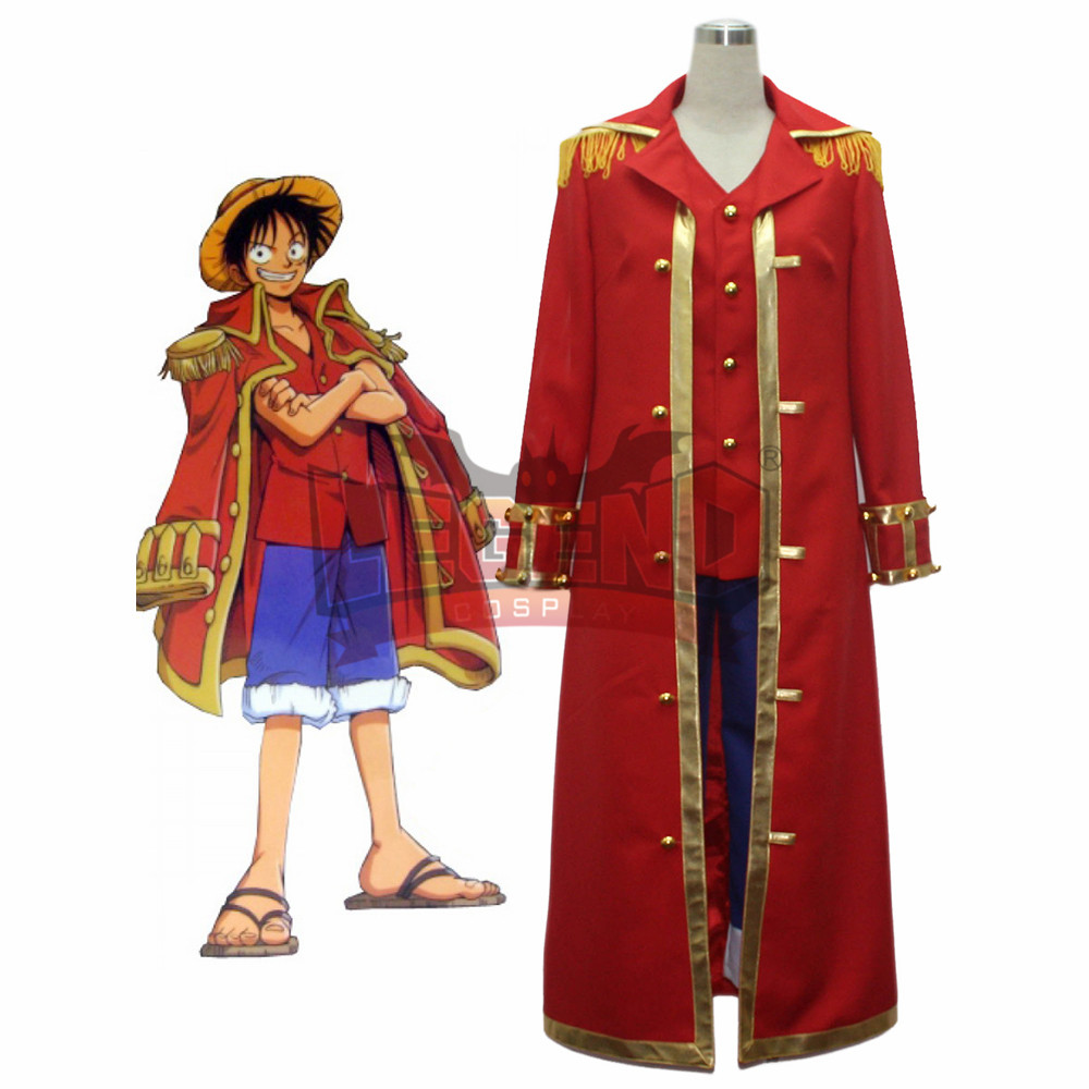 Us 50 0 Anime One Piece Monkey D Luffy Cosplay Costume Red Adult Costume Custom Made Halloween Costume In Anime Costumes From Novelty Special Use