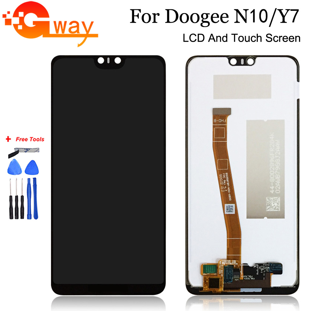 5.84''For Doogee N10 LCD Display+Touch Screen Digitizer Assembly Repair Parts+Tools + Adhesive For Doogee Y7 LCD Display