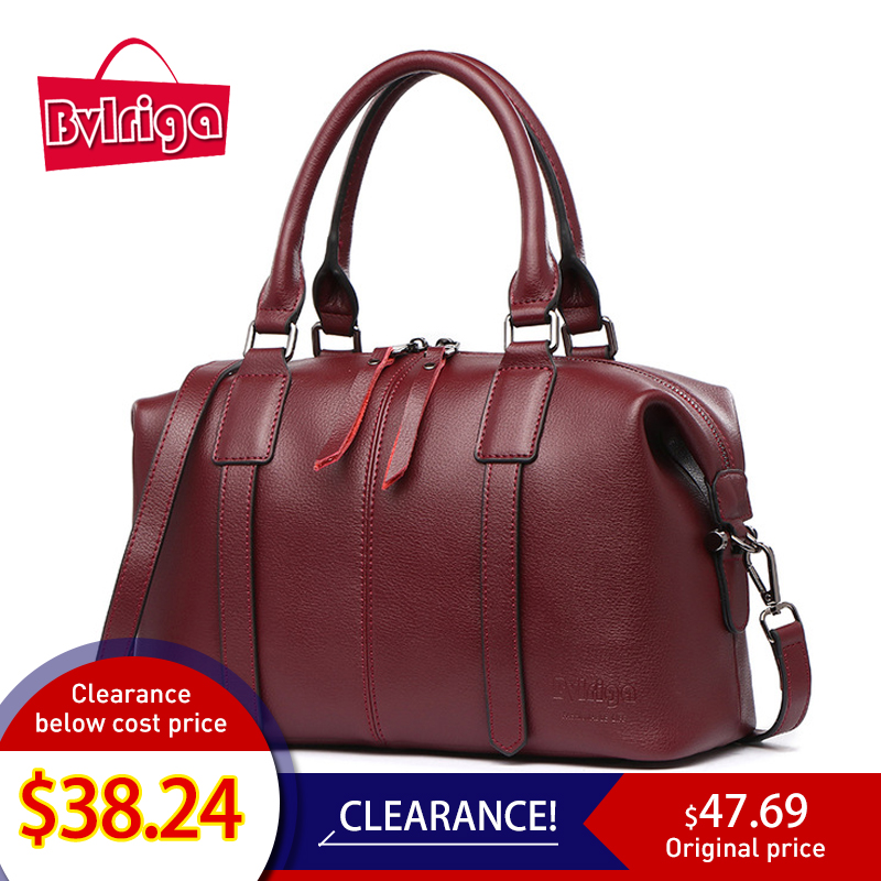 BVLRIGA 고급 핸드백 여성 가방 디자이너 정품 가죽 핸드백 여성 유명 브랜드 크로스 바디 숄더 메신저 백 와인 레드