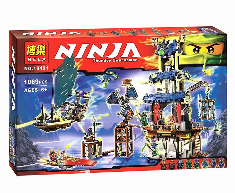 1069pcs Ninja City of Stiix Building Blocks Bricks DIY Model  Ninjagoes Educational Toys for Children