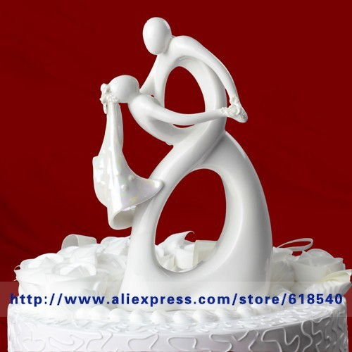 Free Shipping Dancing Bride And Groom Wedding Cake Topper Cake Stand Wedding Cake Accessories Wedding Decoration Casamento