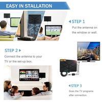 hdtv דיגיטלי 960 מיילס טלוויזיה אנטנה אנטנה טלוויזיה מקורה טווח אנטנה HDTV Amplified דיגיטלי עם 4K HD1080P DVB-T Freeview HD Mini אנטנות i (3)