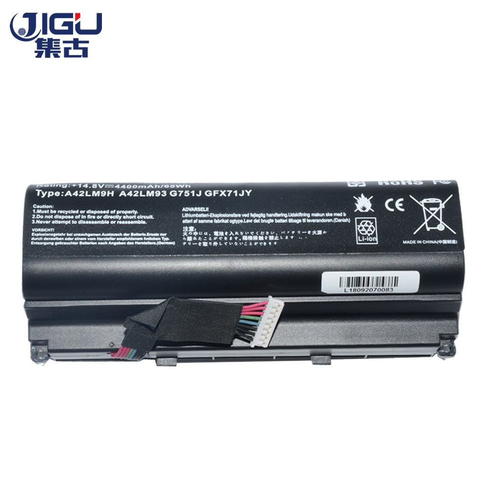 JIGU New Laptop Battery A42LM93 A42LM9H A42N1403 For Asus G751 Series G751J G751JM G751JT G751JY GFX71 GFX71J GFX71JM GFX71JT