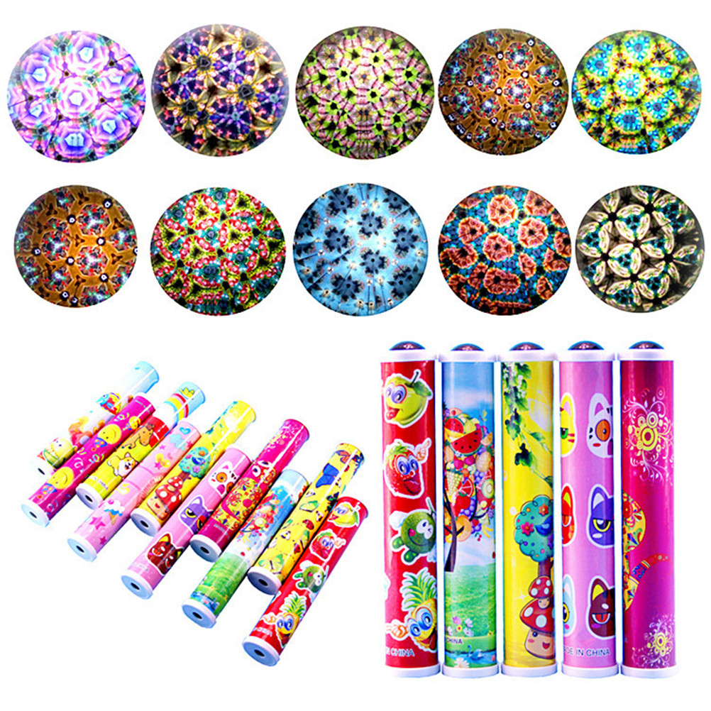 1Pc Cartoon 3D Kaleidoscope Educational Toys Magic Kaleidoscopes Colorful World Best Children Gift Children Best Toys image