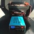 Inteligente 12 V/24 V Carregador de Bateria Do Carro 100AH Chumbo Ácido Carregador de Bateria de Scooter Carro Elétrico Seco E Molhado Display LED
