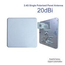 20dBi Одиночная поляризационная направленная плоская антенна настенное крепление 2,4G Wifi наружная панельная антенна N Female 1 шт