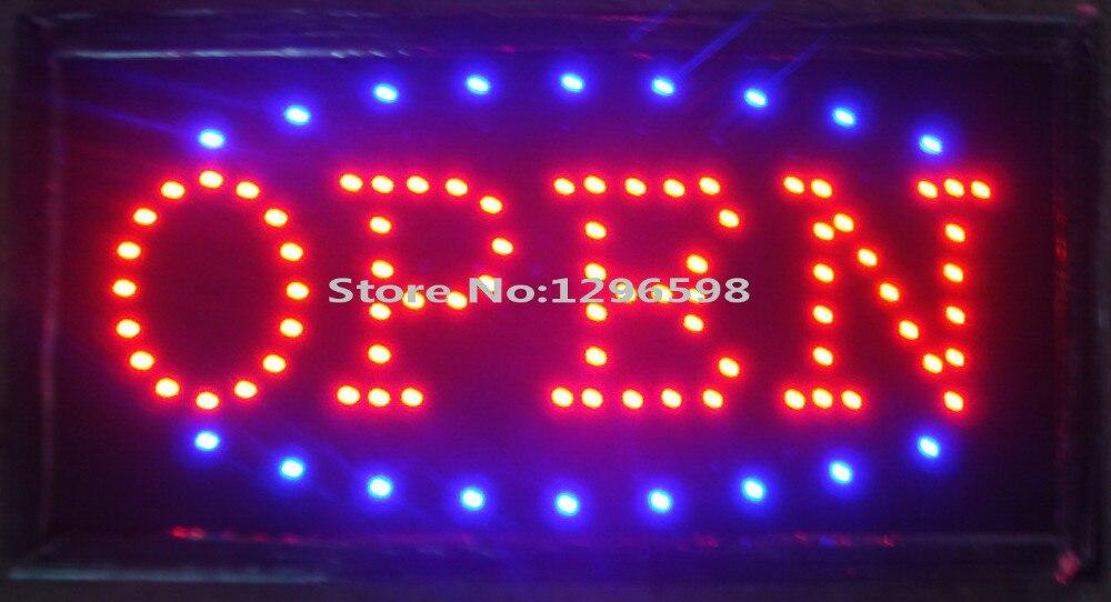 2017 nový příchod vedl otevřený obchod podepsat billboard super jasně přizpůsobené led světla neonový nápis vedl 48cm * 25cm