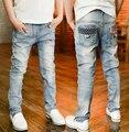 Primavera infantis meninos calças calças de brim do bebê crianças jeans para meninos calças jeans casuais 2-13Y roupas criança frete grátis