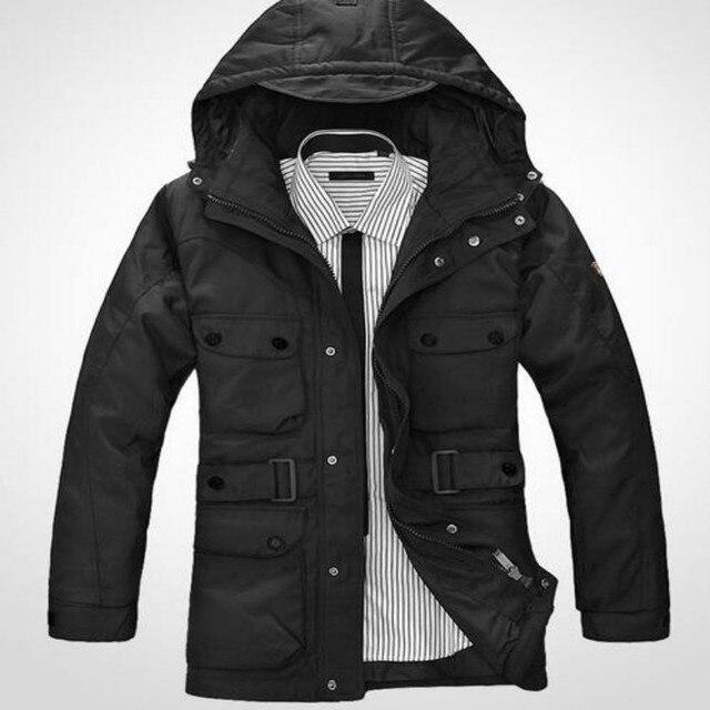 Xmas Новый Зимняя Куртка для Мужчин Вниз Куртка Плюс Размер теплая Подкладка Пальто Ветрозащитный Капюшоном Куртки Мужчины Пальто Парки Размер