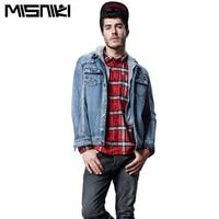 Misniki 2017 Autumn Men Jeans Jacket Thick Warm Winter Denim Jackets Hooded Outwear CYG268