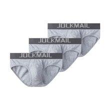 JOCKMAIL 3 ชิ้น/ล็อตชุดชั้นในเซ็กซี่ชาย breathable ด้ายผ้าฝ้าย mens กางเกงขาสั้น cueca ชุดชั้นในเกย์ calzoncillos hombre slip