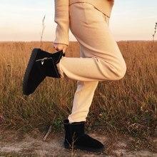 GOGC % 100% yün hakiki deri kış çizmeler kadınlar sıcak kış çizmeler ile kürk bayanlar için tasarım yarım çizmeler kadınlar için G9838