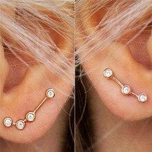 b14c88f2d1b8 ROXI Simple escalador de oreja pendientes de cristal pendientes de oreja de  oro rosa pendientes de