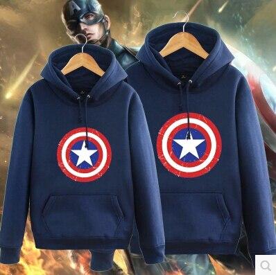 9 цвет Красный Черный Белый Синий Серый Пуловер Герой Капитан Америка Балахон Мужчины Косплей Кофты Бесплатная Доставка