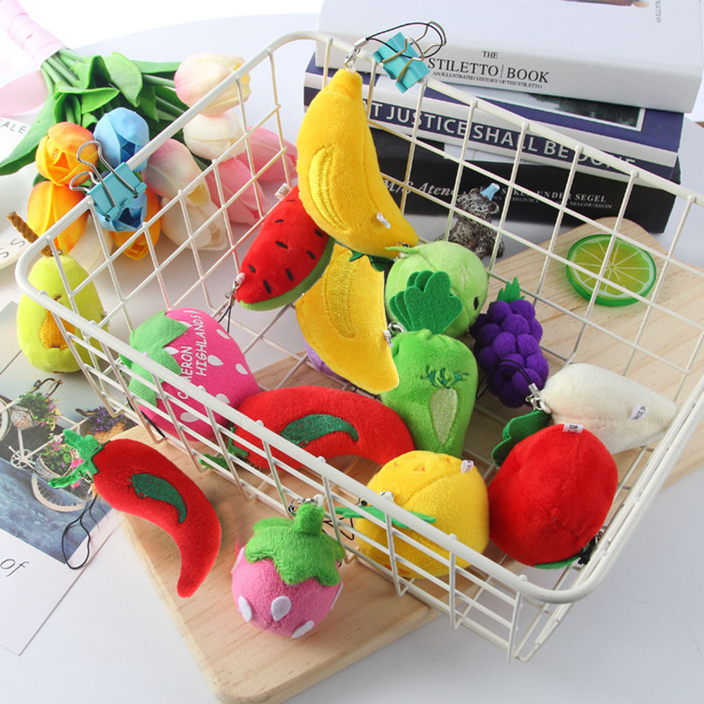 Pendant  Mini Size Children Dolls Stuffed Vegetables Plush Fruits Little Toys