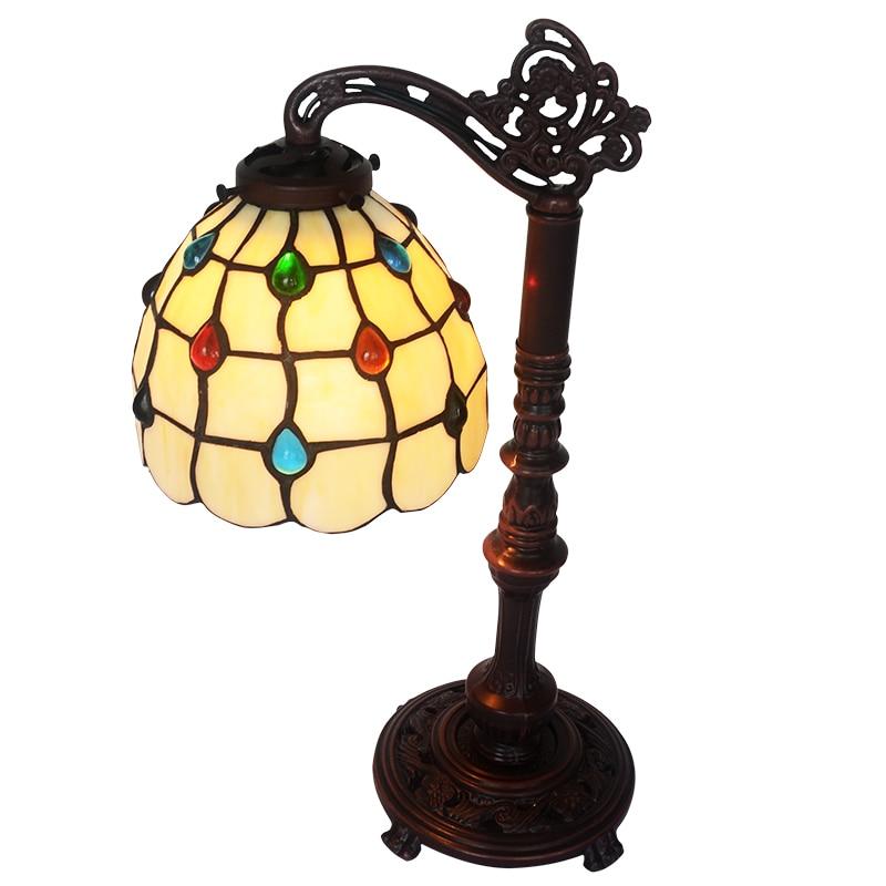 FUMAT Antique GlassTable Lampe Kunstnerisk Kreativt Farvet Glas - Indendørs belysning - Foto 4