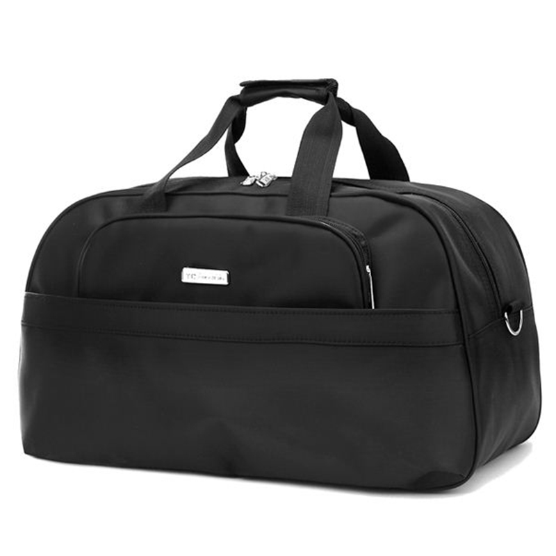 Large Capacity Men Travel Bags Portable 3 Size Weekend Handbags Black Luggage 20 Off T309