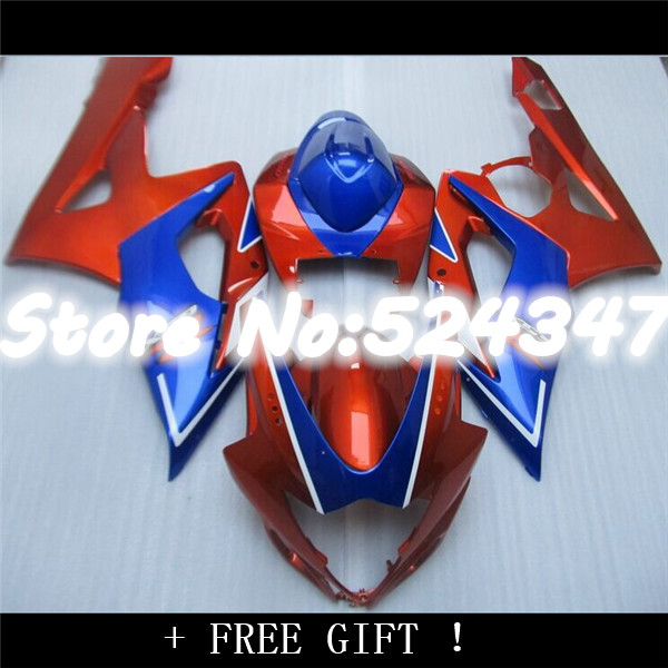 Injection red+blue full Fairing for A GSXR1000 05 06 GSX R1000 05 06 GSX R1000 2005 2006 GSXR 1000 K5 2005 2006
