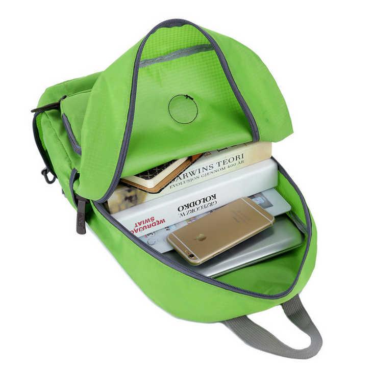 Портативный складной рюкзак для женщин нейлоновый водонепроницаемый Повседневный Рюкзак дневной пакет школьная сумка для девочки сумка
