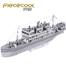 цена на Piececool 3D Metal Puzzle Figure Toy The crossing Warship model Educational Puzzle 3D Models Gift Jigsaw Toys For Children