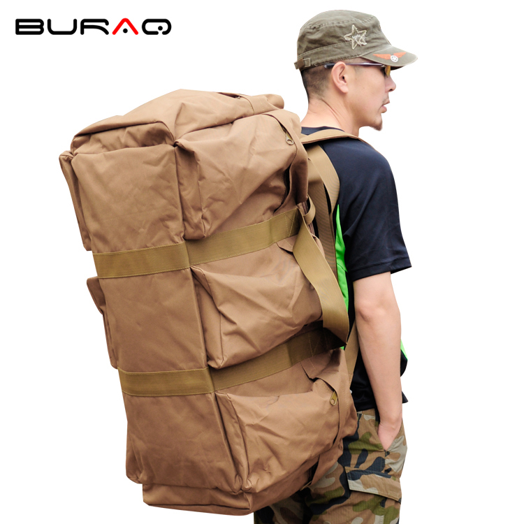 Men's Travel Bag Army Bucket Bags Multifunctional Backpack Military nylon Backpacks Large Duffle Men Shoulder Bags Green A1 multifunctional military tactical canvas backpack men male big army bucket bag outdoor sports duffle bag travel rucksack xa208wd