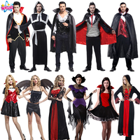 Hot Gothic Party Adultos Ropa Cosplay Hombres Evil Devil Festival Masquerade Ropa Trouses Superior Del Cabo