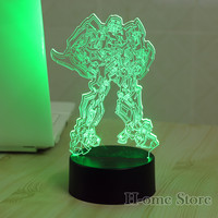 7 Color Bumblebee 3D Visual Led Night Lights for Kids Touch USB Table Lampara  Lampe Baby Sleeping Nightlight