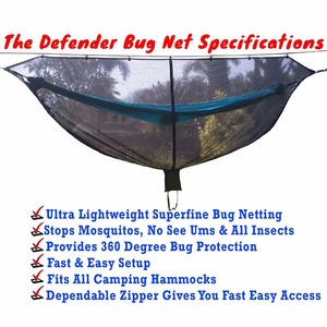 Image 3 - Portable Hammock Mosquito net Camping Survival Garden  Hunting Leisure Hamac Travel Double Person Hamak