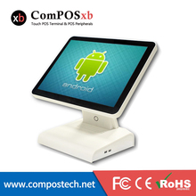 new Android system,POS machine with VFD and WIFI for restaurant retail touch pos all in one pc POS6615