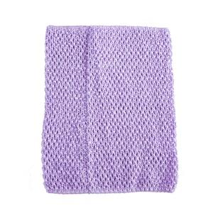 Вязаный топ-труба 9x10 дюймов, топ-пачка для маленьких девочек, вязаная юбка-американка топ-пачка, вязаная крючком повязка на голову, смешанные цвета, 10 шт. в партии - Цвет: Lavender 10pcs