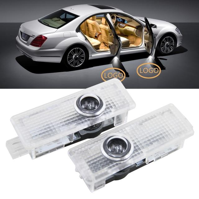 LED Door Courtesy Light Projector Laser Ghost Shadow Lamp With Car Logo For  Jaguar F