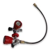Пейнтбол Бак пополнения Применение hp красный клапан + АЗС со шлангом Прямая доставка