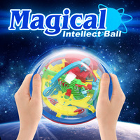 New 100 Steps 3D Puzzle Ball Magic Intellect Ball Educational Toys Puzzle Balance Logic Ability Game