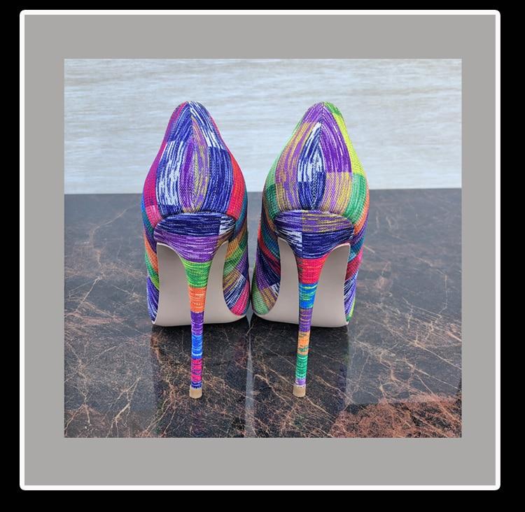Pointu Pompes en Arc Chaussures Paillettes Classiques couleur Shoesconcise De Femmes Tissu Mode Bout Hauts Keshangjia Talons Profond HSxnwqU7n