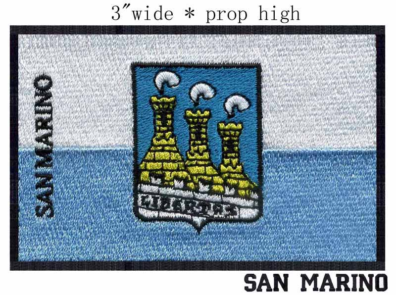 San Marino, San Marino Flag embroidery patch 3 wide shipping/heat flag/making iron on / kids patches