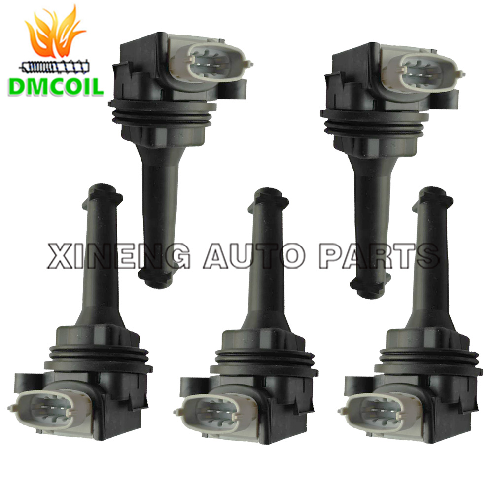 5 PCS IGNITION COIL FOR VOLVO C30 C70 II S40 II S60 I S80 I II