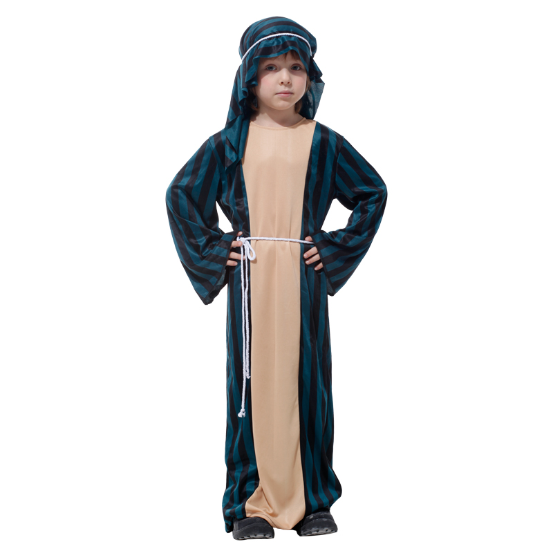 Umorden Child Arab Arabian Sheik Warrior Soldier Costume Kids Boys Shepherd Costumes Halloween Carnival Party Fancy Cosplay