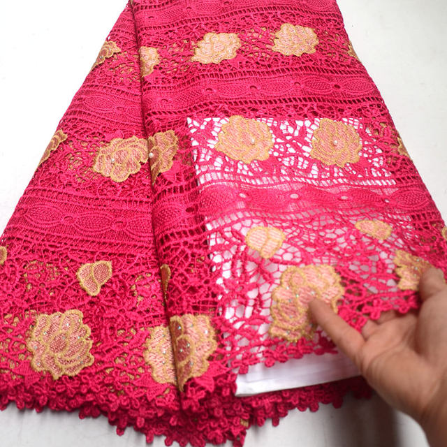 african lace fabric 2019 high quality lace french mesh fabric with beaded stones nigerian swiss lace fabrics for party RG669